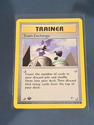 Pokemon Card Gym Heroes Trainer Trash Exchange 126/132 1st Edition Booster fresh