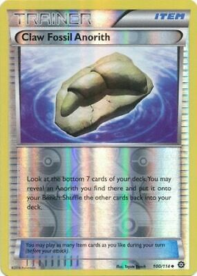 Pokemon TCG CLAW FOSSIL ANORITH 100/114 XY Steam Siege Reverse Holo