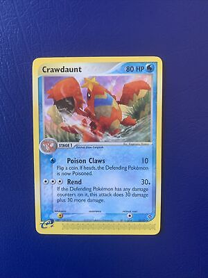 Pokemon CRAWDAUNT - Ex Dragon Set - 13/97 - Non-Holo Rare - Pokemon Card - NM/M