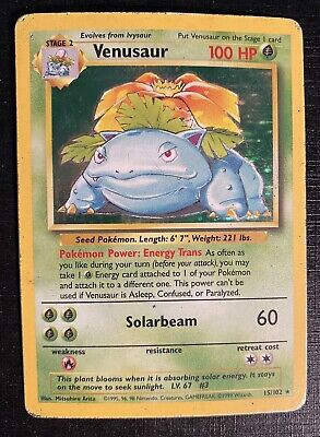 1999 Pokemon Game #15 Venusaur Holo Base