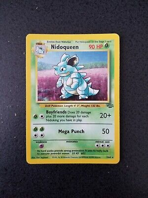 Pokemon Jungle Nidoqueen 7/64 Holographic Rare Decent Condition See Photos