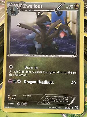 Zweilous - 96/124 - Uncommon Dragons Exalted Pokemon 2B3