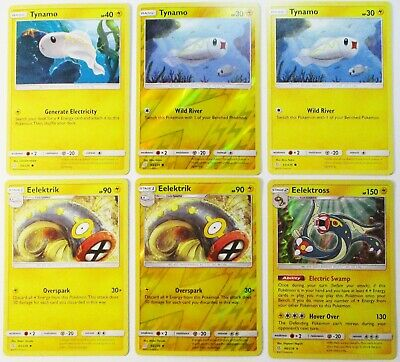 Tynamo Eelektrik Non & Reverse Eelektross 66/236 Holo Unified Minds 6 Pokemon