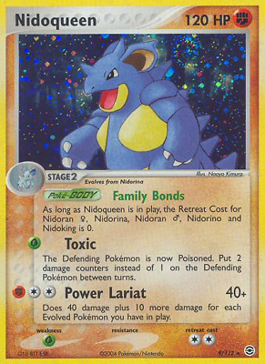 Nidoqueen - 9 - Damaged Holofoil - EX: FireRed & LeafGreen - Pokemon