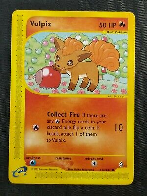 Pokemon Aquapolis Vulpix 116/147 Non Holo Common 2002