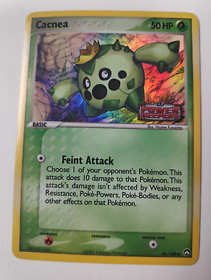 Pokemon 46/108 Cacnea Ex Power Keepers Holo Rare Stamped HP