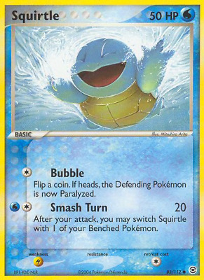 Squirtle - 83 - Near Mint Reverse Holofoil - EX: FireRed & LeafGreen - Pokemon