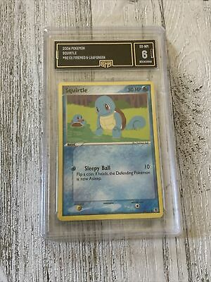 2004 Pokemon Card GRADED GMA 6 Squirtle #82 Ex Firered & Leafgreen (NN33)