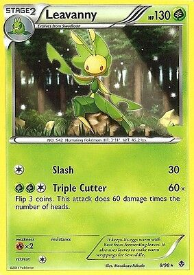 Bw Emerging Powers Pokemon Reverse Holo Rare Card - Leavanny 8/98