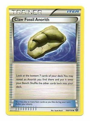 Claw Fossil Anorith 100/114 Xy Steam Siege Pokemon Trainer Card