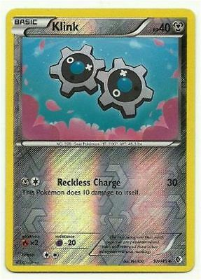 Klink 97/149 B&W Boundaries Crossed REVERSE HOLO MINT! Pokemon