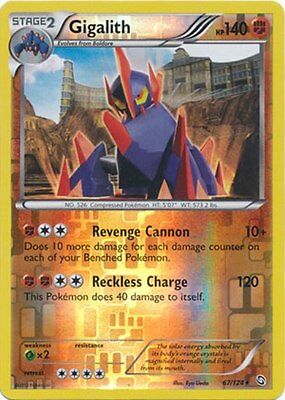 Gigalith 67/124 B&W Dragons Exalted REVERSE HOLO MINT! Pokemon