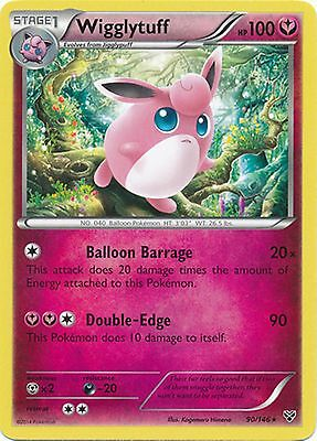 Wigglytuff 90/146 XY Base Set RARE PERFECT MINT! Pokemon