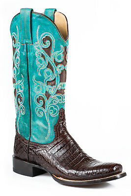 Ботинки Stetson Alia Ladies Brown Caiman