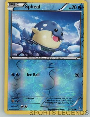 2014 pokemon Flashfire reverse holo Spheal 24/106