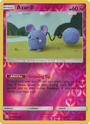 Azurill - 146/236 - Common Reverse Holo Cosmic Eclipse Pokemon