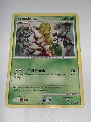 Pokemon Cards TREECKO 78/99 PLATINUM ARCEUS SET COMMON (E)