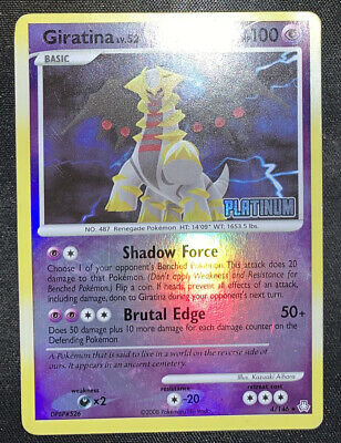 Pokemon Giratina Reverse Holo Rare 4/146 Platinum Stamped - Legends Awakened