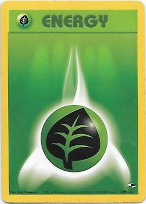Grass Energy 129/132 Gym Heroes Unlimited MINT! Pokemon