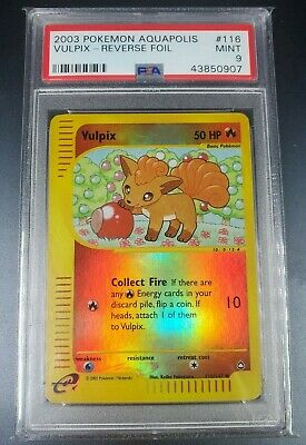 Pokemon PSA 9 Vulpix Reverse Holo Aquapolis Set 116/147 Mint