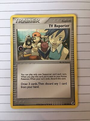 Pokemon Card TCG EX Dragon Frontiers TV Reporter 82/101 Trainer Uncommon