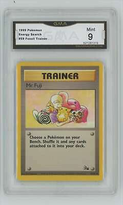 1999 Pokemon Fossil Unlimited #59 Energy Search GMA 9 Mint P3