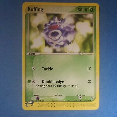 Koffing 54/109 EX Ruby and Sapphire Set, Common Pokemon card, NM