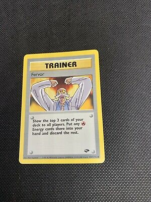 Fervor 124/132 - Gym Challenge - Common Pokemon Card - M/NM