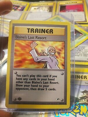 (1st edition)Pokemon Card BLAINE'S LAST RESORT GYM HEROES Set 105/132