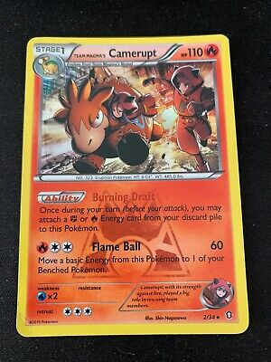 Pokemon Team Magma's Camerupt 2/34 Holo Rare Double Crisis Moderately Played