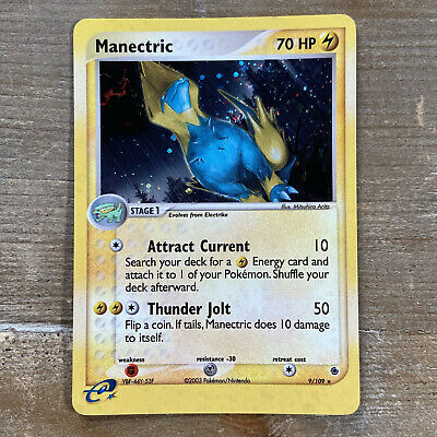 Manectric 9/109 Holo Rare Near Mint - Ex Ruby and Sapphire Pokemon Card