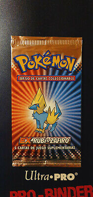 ❗❗ POKEMON Spanish EX Ruby & Sapphire Booster Pack Manectric NEW SEALED 2003 ❗❗