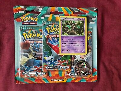 Furious Fists Triple Booster Blister Trevenant Promo XY17 Pokemon Pack Sealed
