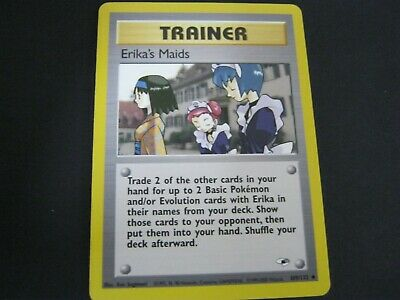 Pokemon Card Gym Heroes Number 109 ERIKA'S MAIDS