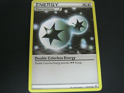 Pokemon Card Legendary Treasures Number 113 DOUBLE COLORLESS ENERGY