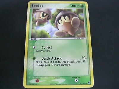 Pokemon Card Ex Deoxys Number 71 SEEDOT