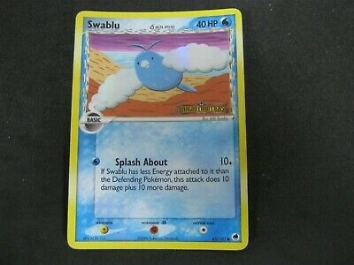 Pokemon Card (1) Dragon Frontiers Holo Number 65 SWABLU