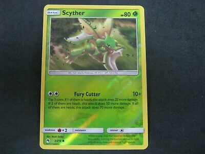 Pokemon Card Lost Thunder Holo SCYTHER Number 3