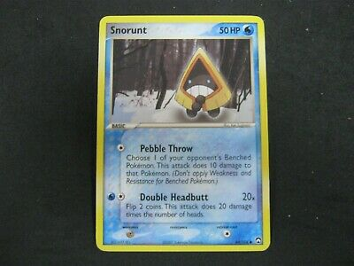Pokemon Card Ex Power Keepers Number 64 SNORUNT