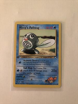 Pokemon Gym Heroes 1st Edition Misty's Poliwag 87/132