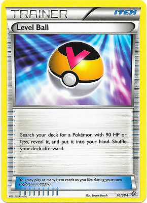 Level Ball 76/98 - Xy Ancient Origins Pokemon Rev Holo Trainer Card