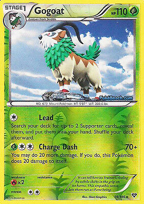Gogoat 3/146 - Xy Pokemon Reverse Holo Card - In Stock Now!
