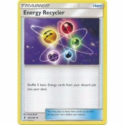 Energy Recycler 123/145 Sm Guardians Rising Pokemon Trainer Card