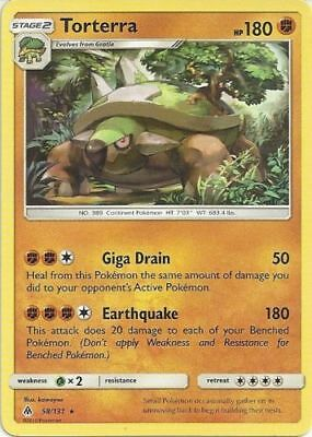 Torterra 58/131 S&M Forbidden Light RARE PERFECT MINT! Pokemon