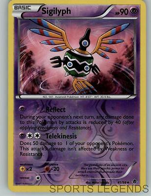 2011 pokemon Emerging Powers reverse holo Sigilyph 41/98