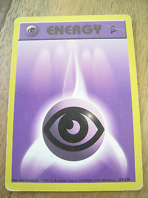 Pokemon Card - PURPLE PSYCHIC ENERGY - 129/130 - Base Set 2 - Played