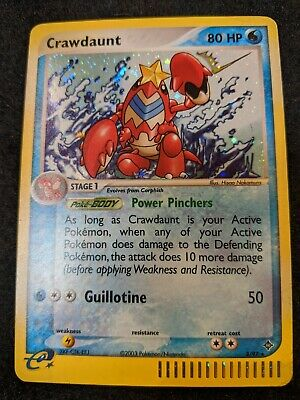 Pokemon Crawdaunt 3/97 EX Dragon Rare Holo Near Mint/Mint