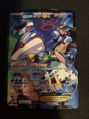 FULL ART Team Aqua's Kyogre EX + Magma's Groudon EX 6/34 Pokemon Double Crisis