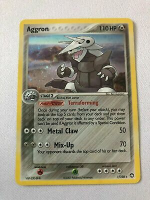 Aggron 1/108 Ex Power Keepers Holo Rare Pokemon Card Near Mint