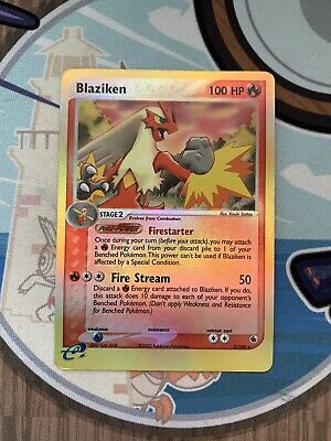 Pokemon EX Ruby And Sapphire Blaziken Reverse Holo 3/109 Lightly Played LP